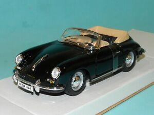 Bburago 1/24 Porsche 356B Cabriolet 1961 Black MiB