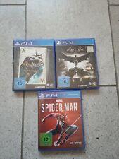 Ps4 Spielesammlung 3x Batman und  Spiderman Top !