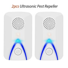 2x Ultrasonic Repeller Pest Animal Reject Killer Bug Spider Insect Home Garden