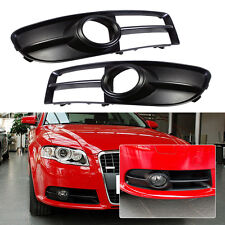 1 pair Front Bumper Lower Grilles Fog Light Lamp Grill For AUDI A4 S-line B7