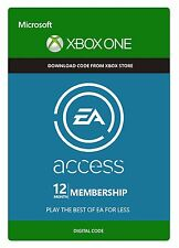 EA Access 12 mois Membership xbox one key code FAST Dispatch-Works Worldwide