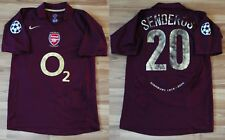 ARSENAL LONDON 2005/2006 HOME FOOTBALL SHIRT JERSEY PHILIPPE SENDEROS SZ SMALL