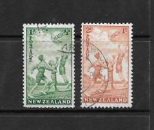 1941 King George VI SG626 & SG627 HEALTH STAMP Set of 2 Fine Used NEW ZEALAND