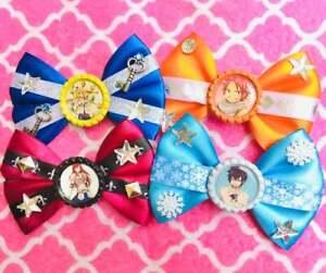 Fairy Tail Lucy Natsu Grey Erza Anime Hair Bows