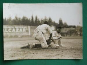 1938 AGRARIO MEXICO ANASTASIO SANTAELLA NEGRO LEAGUE BASEBALL BLACK WHITE PHOTO