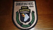 WW11 BAND OF BROTHERS HBO 101ST AIRBORNE EASY COMPANY 506TH REG  PATCH BK K#25