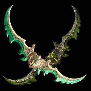 World Of Warcraft  Lllidan Stormrage Warglaive of Azzinoth Full Metal Weapon
