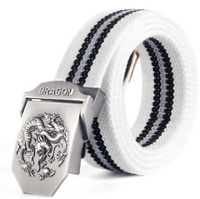 new Men's Outdoor Canvas Belt Casual Knitted Pants with Canvas Belt Cloth