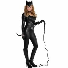 Adult Purrvocative Kat Costume Kitty Cat Woman Ladies Fancy Dress Outfit 10-12