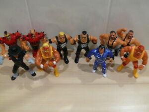 WWE WWF VINTAGE WRESTLING FIGURES BUNDLE TITAN SPORTS HASBRO LOT 1 JOB ALL WORK