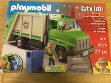 PLAYMOBIL City Life Green Recycling Truck Playset #5679 Unused