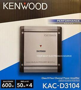 NEW KENWOOD KAC-D3104 Class D, 4-Channel Car Audio Amplifier