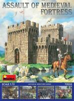 MINIART 1/72 Medieval Fortress Model Kit Castle Knights Siege Weapons FREE SHIP