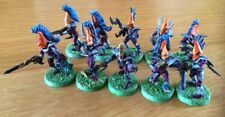 WARHAMMER 40K dark eldar guerrieri lotto di 10 ben dipinti & BASE GAMES WORKSHOP