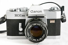 CANON EX-ee QL FILM CAMERA WITH 50mm 1.8 CANON LENS VERY GOOD CONDITION