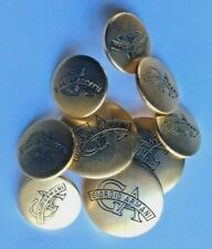 Giorgio Armani golden solid Brass metal button set of 9 for blazer/suit & Logo