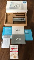 NINTENDO Wii ☆ EMPTY BOX, INSERTS & MANUAL ONLY - NO CONSOLE ☆ SHIPS FAST