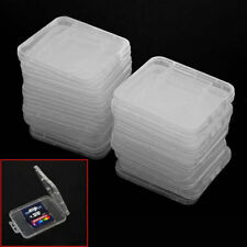 20× Plastic Clear SD SDHC Memory Card Storage Case Box Protector Holder