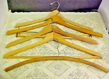 Wooden Coat Hangers Pants Suits Jackets Some Are Dove Tailed Lot of 5 Vintage