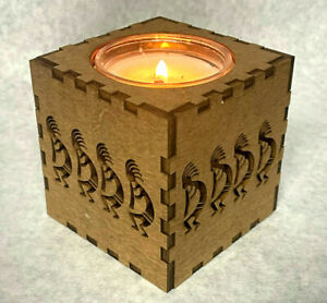 Kokopelli natural soy candle scented crackle wood wick music flute tribal africa