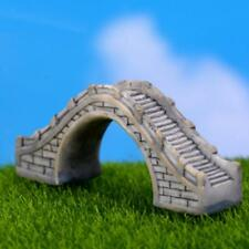 Miniature Micro Landscape Fairy Garden Pot Bonsai DIY Craft Arch Bridge Gray
