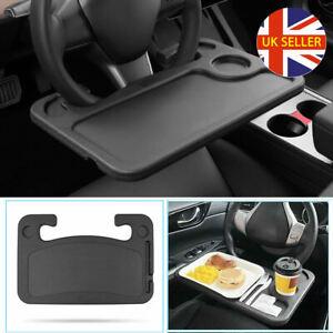 Car Steering Wheel Tray Laptop Table Mount Desk Eating Food Stand Drink Holder