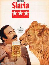 PUBLICITE ADVERTISING 055  1968  Les bières SLAVIA