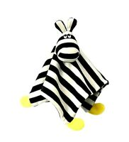 ZEBRA IKEA KLAPPA Baby Lovie Comfort Blanket 11x11 Lovey Nursery Black & White