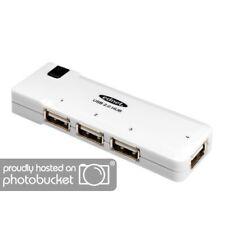 Ednet USB 2.0 Hub mit 4 Ports für Notebook + PC, Verteiler bis 480 MBit/s, weiß