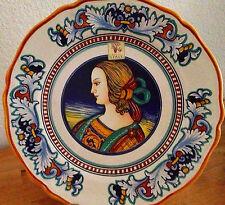 Nova Deruta Italian Portrait Plate Renaissance Lady