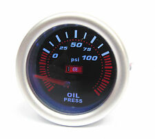 Universal 52mm Smoked Face Oil Pressure gauge supplied with 1/8npt Sender