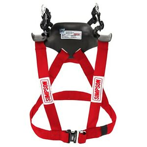 Simpson Hybrid Sport FHR System Hans Device FIA Approved - STD Adult Large RED