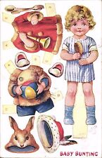 Cut-Out Novelty. Baby Bunting in Tuck Dressing Dolls Series # 3382.