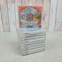 Minidisc Job Lot x 10 Used Recordable Discs Rare Victor AR Japan 80 Bundle