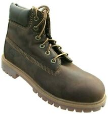 "Kids Junior Childrens Boys Distressed Brown Leather Timberland 6"" Boots 80903"
