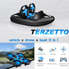 RC Triphibian Drone Mini Remote Control Boat Hovercraft Terrain Water Sports Toy