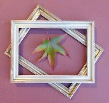 """Antique Gilt Gold Frame Wood Fits 12 3/8"""" X 8 3/4"""" with Red Tones (+ FREE Frame)"""
