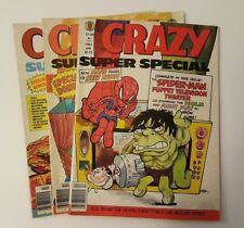 CRAZY Magazine by Marvel Lot of 3 Vintage Super Special Issues early 1980's RARE