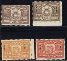Panama 1940's, 4 different fiscals or revenues American Banknote archives NH