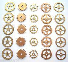 Lot 25 vintage clock small brass gears wheels 16-21 mm Steampunk art parts #2