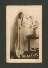 GLADYS COOPER vintage hand tinted postcard Rotary S.27-5