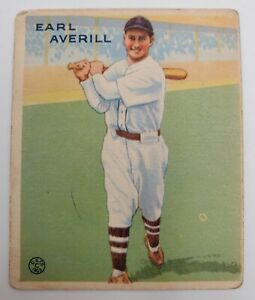 1933 Goudey Gum Big League Baseball Card #194 Earl Averill Cleveland Indians