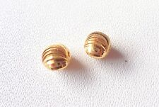 Solid 22 Carat (22K) Yellow Gold 5MM Twisted 8 pieces Indain Handmade Beads