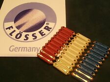 VW FLOSSER TORPEDO FUSES  30 PACK WHITE 8A RED 16A BLUE 25A. 10 EACH GERMANY