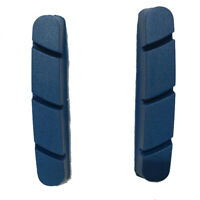 2 Pairs Bicycle Brake Pads Right&Left Carbon Rim Road Bike Campagnolo Blue Color