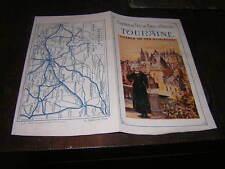 1910.prospectus touristique chemin de fer Touraine Loches.TBE