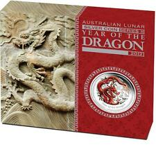 2012 $1 Year of the Dragon 1oz Coloured Silver Proof Coin