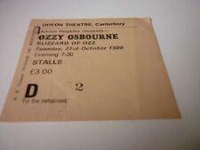 Ozzy Osbourne ticket Blizzard of Oz Canterbury Odeon 21/10/80 Randy Rhoads