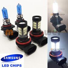 Combo H11-Samsung 57-LED 6000K 9005-HB3-White-65W-Halogen Bulb #Gr5 Low/Hi Beam