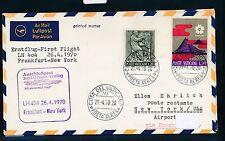 96066) LH FF Frankfurt-New York 26.4.70, carta a partir del Vaticano